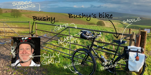 Bushys Bike - a 3000 mile journey through Europe to raise awareness and funds for early cancer and health screening and diagnosis