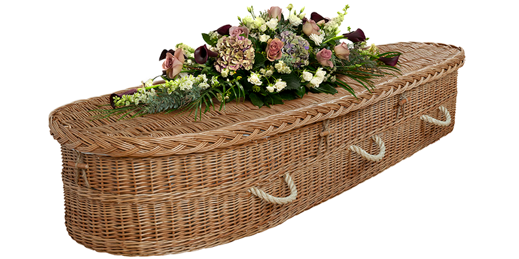 Our English Willow Coffin is hand woven in England from natural British grown willow