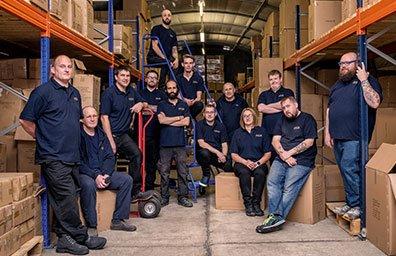 Tributes warehouse team